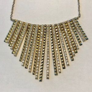 Jewelry - Silver and Gold Bib Statement Necklace